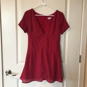 Tobi red mini dress